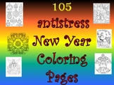 105 ANTISTRESS NEW YEAR COLORING PAGES