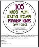 105 Kindergarten Math Journal Prompts