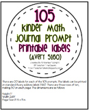 105 Kindergarten Math Journal Prompts