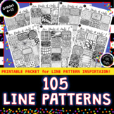 105 Line Patterns Design Resource - 7 High Quality Art Printable Handouts!