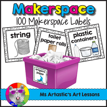 Makerspace: 100 Labels for Organization
