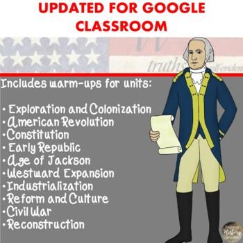 105 U.S. History Warm Ups!