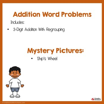 Add 3 Digits Word Problems 3-Digit Addition With Regrouping Color By Number