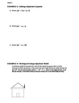 10.6 Factoring ax^2 + bx + c