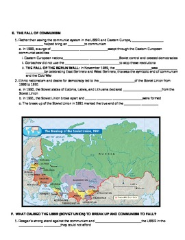 UNIT 13 LESSON 6. The Cold War Ends GUIDED NOTES