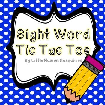 107 Zeno Sight Word Tic Tac Toe