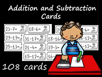 108 Addition and Subtraction Cards