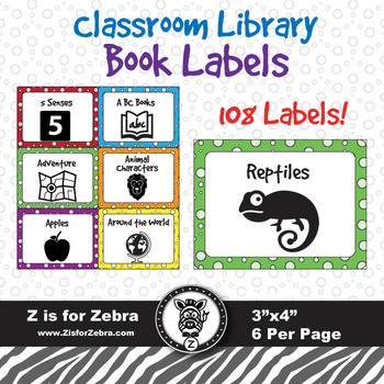 108 Book Bin Labels!