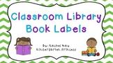 108 Classroom Library Book Bin Labels