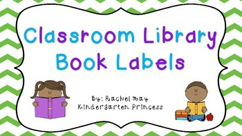 108 Classroom Library Book Bin Labels
