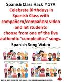 108 Spanish Class Birthday Cumpleaños Tradition Celebration