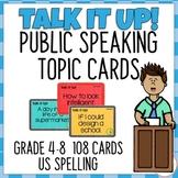 108 Topic Cards for Public Speaking Oral Presentations - G