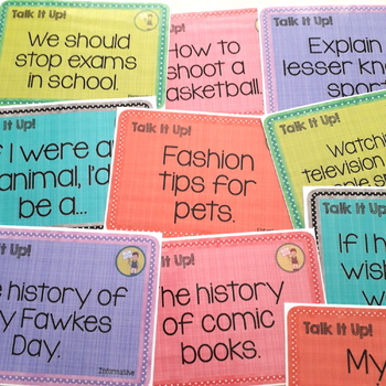 108 Topic Cards for Public Speaking Oral Presentations USA