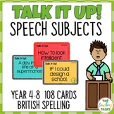 108 Speech Topic Cards for Public Speaking Oral Presentations NZ AU UK