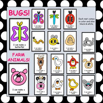 108 Spring Playdough Mats - (Bugs, Farm Animals, Weather, Plant Life Cycle,...)
