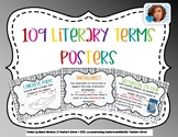 109 Literary Terms Posters Black & White Boarder