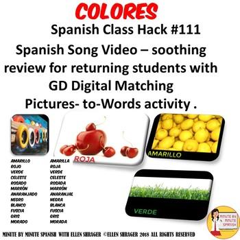 111 Spanish Class Hack to 90% TL _Colores_Repaso de 5 minutos Digital Activity