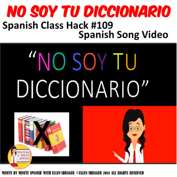 109 Spanish Video No Soy Tu Diccionario Spanish Social Skills Video