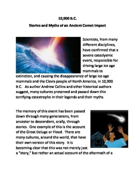 10900 B.C. The Stories and Myths of an Ancient Comet Impact
