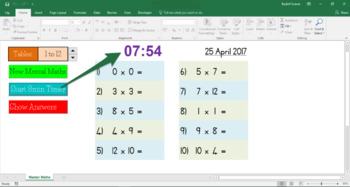 10min Multiplication Mental Maths / Times Tables 1-12