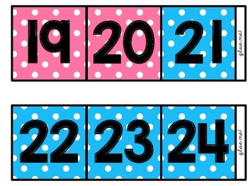 [Bold] (Three-Color Polka-Dot) Skip Counting by 10s Polka-Dot Number Line (100)