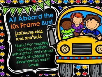 10s Frame Bus Mat with Kids and Animals as Markers