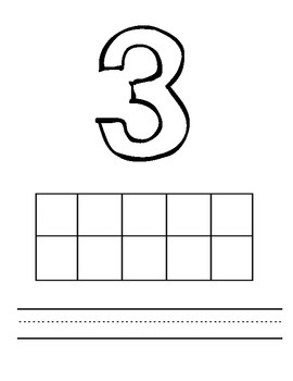10s Frame Practice Packet Numbers 1-5