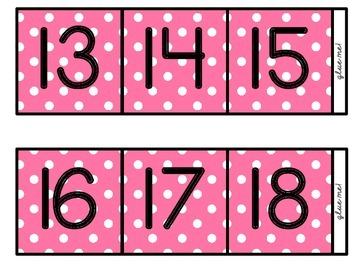 [Thin] (Three-Color Polka-Dot) Skip Counting by 10s Polka-Dot Number Line (100)