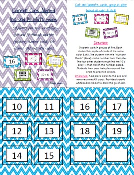 10's and 1's Math Game- Common Core Aligned!