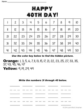 50th Day of Celebrating School Packet - 10th, 20th, 30th, 40th and 50th days