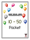 50th Day of Celebrating School Packet - 10th, 20th, 30th,