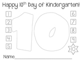 10th Day of Kindergarten Coloring Page