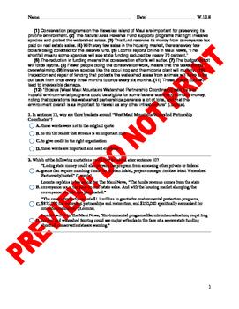 10th Grade Citation Formats Assessment