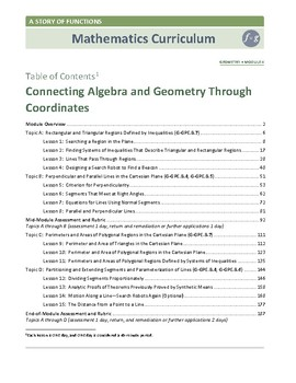 10th Grade Connecting Algebra and Geometry Lessons, Worksheets, and Exit Tickets