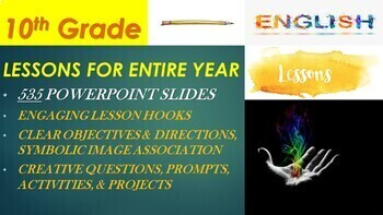 10th Grade English Lessons (FULL Year Bundle - 42 Weeks) PowerPoint Presentation