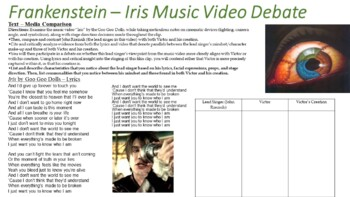 "Frankenstein by Mary Shelley - Goo Goo Dolls ""Iris"" Music Video Debate"