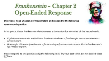 Frankenstein by Mary Shelley - Lesson Plans - Open-ended & Author's Purpose