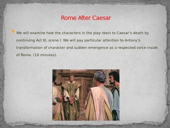 Shakespeare's Julius Caesar Lessons - Facebook Project & Leaderless Rome