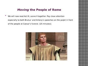 Shakespeare's Julius Caesar - Act III - Antony's Speech to