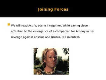10th Grade English Weekly Lesson Plans - Shakespeare's Julius Caesar Act IV