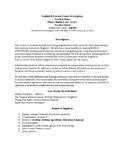 Course Description Template 10th Grade English World Literature