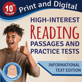 10th Grade High-Interest Informational Texts & PRACTICE TE