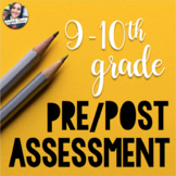 9-10th Grade Pre-Assessment - Grammar, Reading Comprehensi