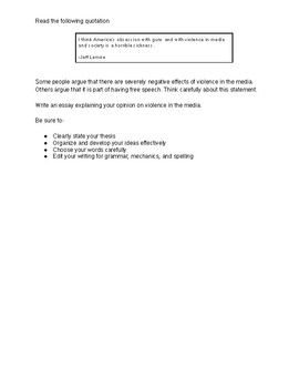 10th Grade STAAR Persuasive Promps