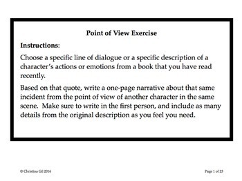Essay writing exercises