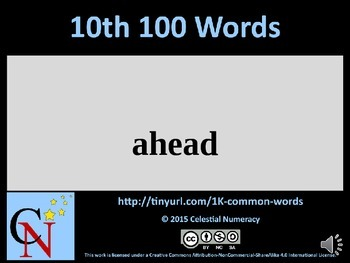 10th Hundred Words with Audio - 1,000 Word Fluency Program (Free)