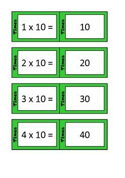 Quiz Quiz Trade 10x Times Table Cards