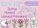 10x10 Spring Literacy Printables