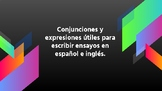 FREE-CONJUNCTIONS AND EXPRESSIONS TO WRITE ESSAYS IN SPANI