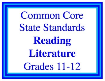 11-12 English CCSS Posters
